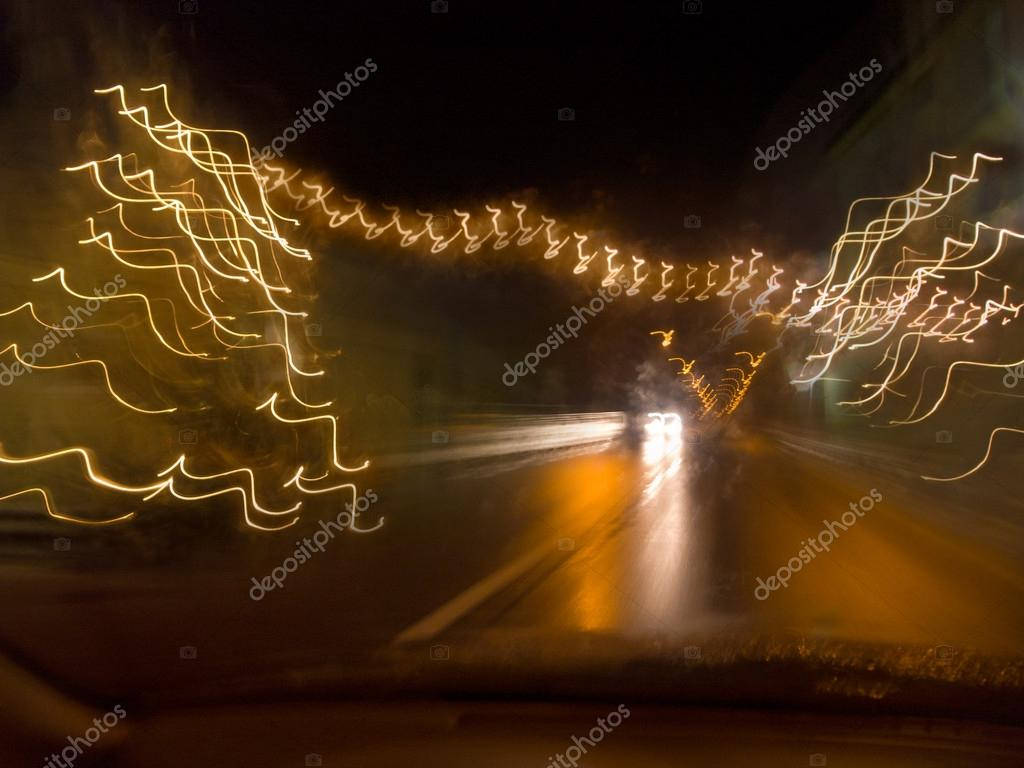 Oncoming traffic at night — Stock Photo #13927683