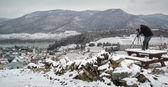 Winterphotographer in Austria — Stock Photo