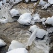 Wintry ice river — Stock Photo