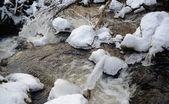 Chłodny lód rzeki — Zdjęcie stockowe