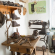 Historical workshop of a shoemaker — Stock Photo