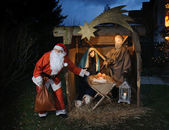 Santa Claus and Christ Child — Stock Photo