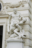 Hercules fighting Hyppolyte — Stock Photo