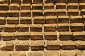 Remaining of brick wall — Stock Photo