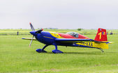 Romanian aerobatic plane preparing for take-off — Stock Photo