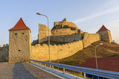 Rupea fortress in the warm light of dawn — Foto Stock