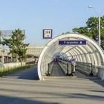 Moving walkway near railway station — Stock Photo #51541367