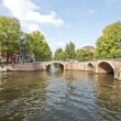 Classical Amsterdam view in the Netherlands — Stock Photo #11509556