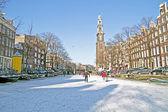 オランダの冬のアムステルダム — ストック写真
