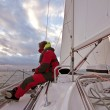 Stock Photo: sailing on the ijsselmeer in the netherlands