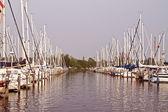 オランダ港のヨット — ストック写真