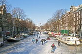 Winter in Amsterdam the Netherlands — Stock Photo