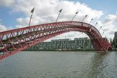 Python bridge in Amsterdam the Netherlands — Stock Photo