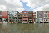Different modern houses in Amsterdam the Netherlands — Stock Photo