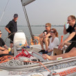 Sailing on the IJsselmeer in the Netherlands - Стоковая фотография