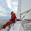 Sailing on the IJsselmeer in the Netherlands - Foto de Stock