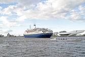 O porto de amsterdã, na holanda — Foto Stock