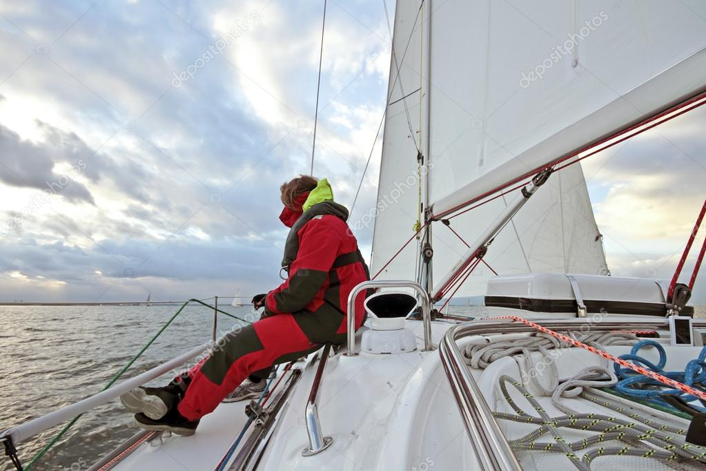 Sailing on the IJsselmeer in the Netherlands  Stock Photo #13420098