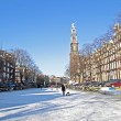 Winter in Amsterdam the Netherlands - Stock Photo