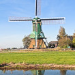 Traditional windmill in the countryside from the Netherlands — Stock Photo