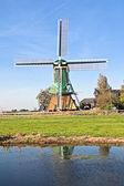 Hollanda kırsal alanda geleneksel yel değirmeni — Stok fotoğraf