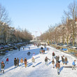 Snowy Amsterdam in the Netherlands - Stock Photo