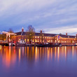 City scenic from Amsterdam in the Netherlands at twilight — Stock Photo