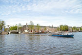 Sightseeing in Amsterdam the Netherlands on the river Amsteld — Stock Photo