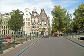 City scenic from Amsterdam in the Netherlands — Foto Stock