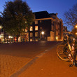 Amsterdam streetview in Netherlands at twilight — Stock Photo #14972443