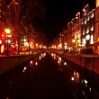 Red light district in Amsterdam the Netherlands at night — Photo