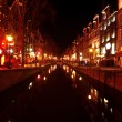 Red light district in Amsterdam the Netherlands at night — Stockfoto