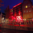 Red Light District in Amsterdam the Netherlands — 图库照片