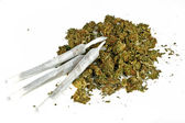 Marihuana joint with marihuana — Foto Stock