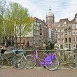 Title:Bikes in Amsterdam the Netherlands — Stock Photo