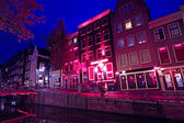 Quartier rouge à amsterdam aux pays-bas — Photo