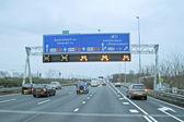 вождение на шоссе a10 в амстердаме нидерланды — Стоковое фото