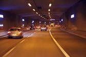 Jízda tunelem v Nizozemsku — Stock fotografie