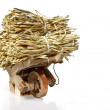 Stock Photo: Handcart with straw