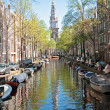 City scenic from Amsterdam in the Netherlands - Stock Photo