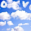 Cloudscape with the word LOVE — Stock Photo