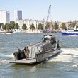 ROTTERDAM, NETHERLANDS - SEPTEMBER 09: Officer from a marine shi - Stock Photo