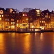 Panoramfrom Amsterdam with Munt tower in Netherlands a — Stock Photo #20843905