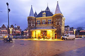 De Waag building in Amsterdam the Netherlands at twilight — Stock Photo