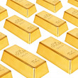 Gold bars on a white background — Stock Photo