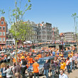 AdMSTERDAM - APRIL 30: Celebration of queensday on April 30, 201 — Stock Photo