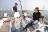 Sailing on the IJsselmeer in the Netherlands — Stock fotografie