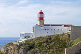Lighthouse from Cabo Vicente near Sagres in Portugal — Stock Photo
