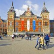 ������, ������: AMSTERDAM NETHERLANDS APRIL 30: Decorated central station in