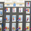 Decorated facades in Amsterdam the Netherlands on occasion — Foto Stock